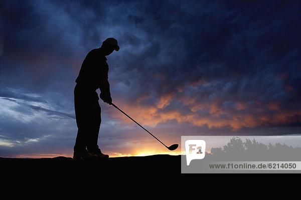 schaukeln  schaukelnd  schaukelt  schwingen  schwingt schwingend  Europäer  Sonnenuntergang  Golfspieler  Golfsport  Golf  Verein