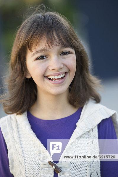 Europäer  lächeln  Mädchen