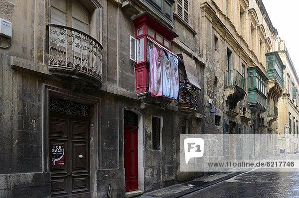 Reihenhaus Valletta Hauptstadt Europa Malta