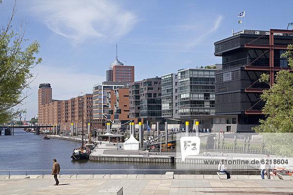 Am Sandtorkai street  HafenCity quarter  Magellan Terraces  Hamburg  Germany  Europe  PublicGround