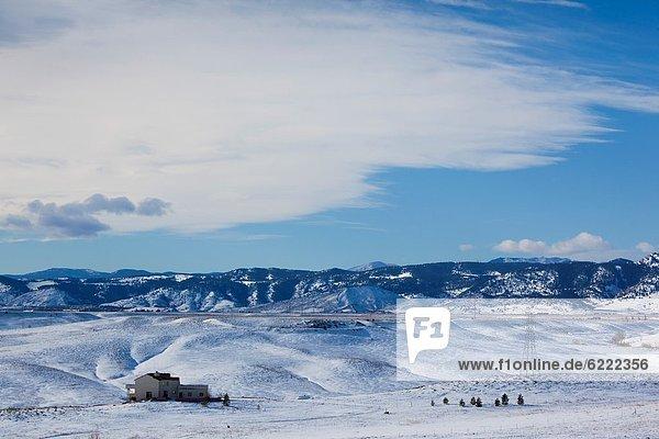 Vereinigte Staaten von Amerika USA Berg Winter Felsen Wohnhaus Einsamkeit Colorado
