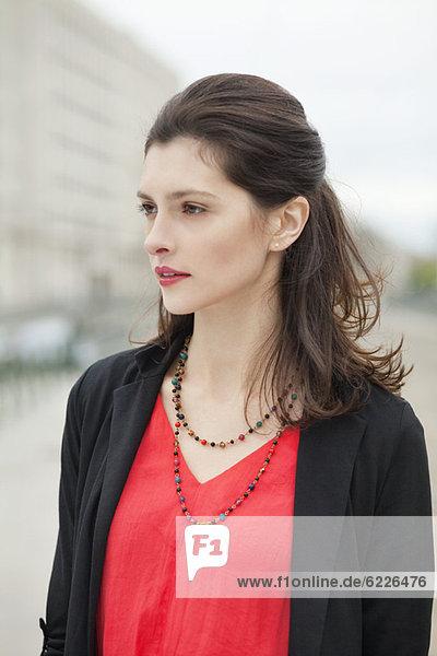 Close-up of a beautiful woman
