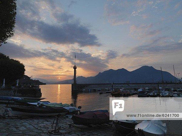 Verbania-Intra  sunrise over Lake Maggiore  Italian Lakes  Piedmont  Italy  Europe