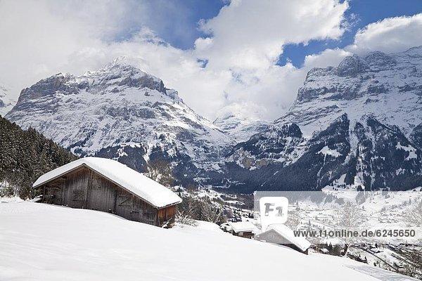 Europa Westalpen Berner Oberland Schweiz Schweizer Alpen