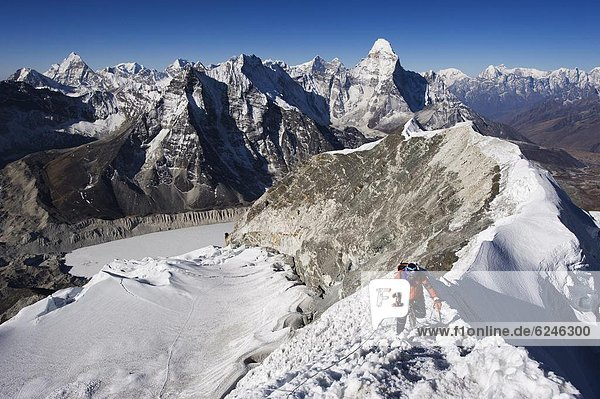 Berggipfel  Gipfel  Spitze  Spitzen  Insel  Klettern  Himalaya  Ama Dablam  Asien  Nepal