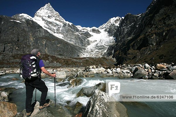 Ecke  Ecken  Pause  Eis  Geographie  Bergwanderer  Himalaya  Asien  Nepal  trekking  Weg