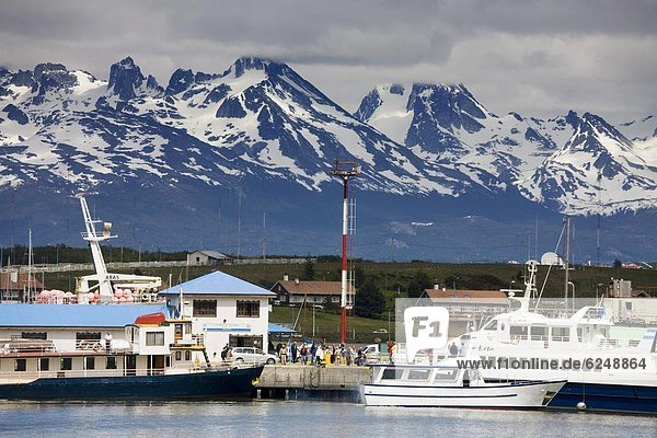 Port of Ushuaia  Tierra del Fuego  Patagonia  Argenti0  South America