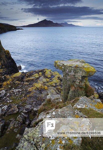 Europa  Berg  sehen  Großbritannien  Dorf  Ansicht  vorwärts  Geräusch  Big Ben  Landspitze  Isle of Skye  Schottland
