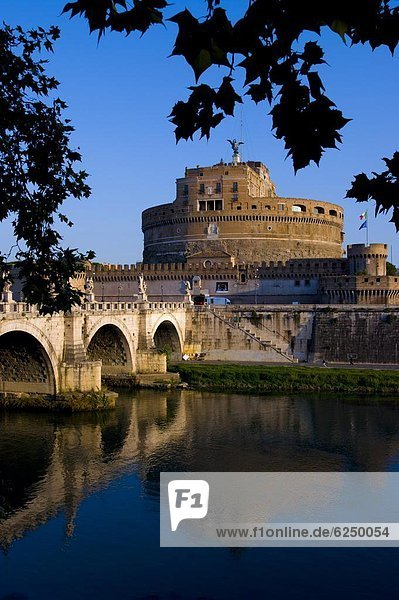 Rom  Hauptstadt  Europa  Fluss  Tiber  Latium  Castello  Italien