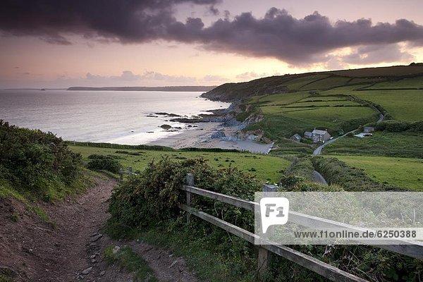 führen  Europa  Strand  Großbritannien  Weg  Cornwall  England  Wanderweg