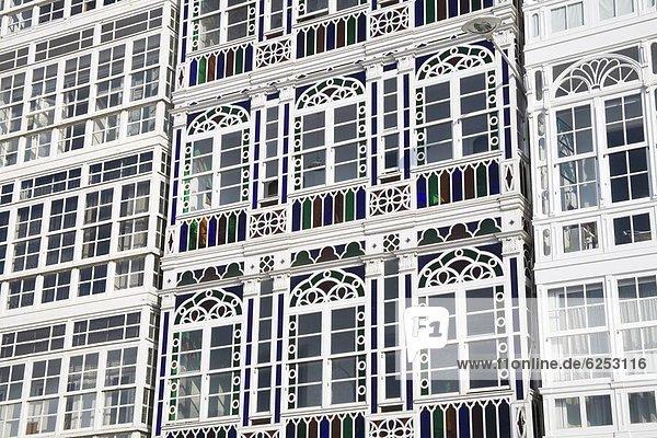 Europa  Glas  Balkon  Jachthafen  Allee  Galicien  Spanien