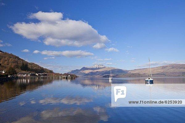 Segeln  Europa  Ruhe  Großbritannien  Boot  Sehenswürdigkeit  See  Argyll and Bute  Schottland