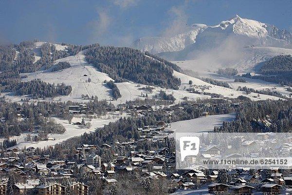 Frankreich Europa Französische Alpen Haute-Savoie Megeve