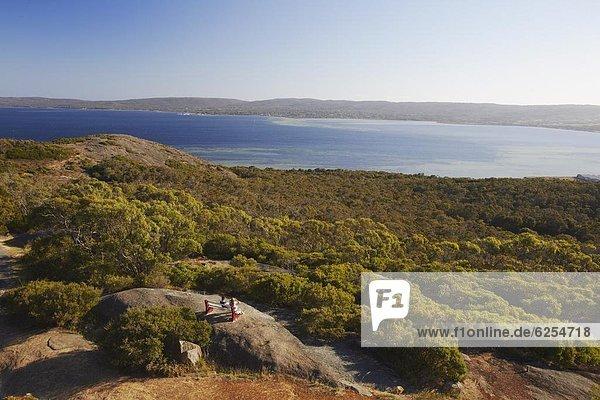 Hafen  über  Monarchie  Prinzessin  Pazifischer Ozean  Pazifik  Stiller Ozean  Großer Ozean  hinaussehen  Berg  Albany  Australien  Western Australia