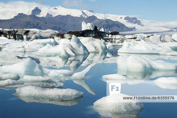 Eisberg  Gletscher  Vatnajökull  Jökulsárlón  Island  Lagune