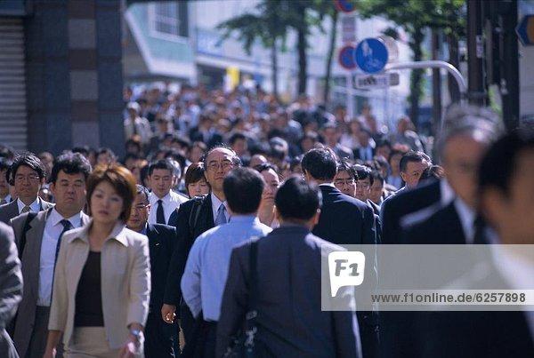 Rush Hour  Stoßzeit  Tokyo  Hauptstadt  Fußgänger  Asien  Japan