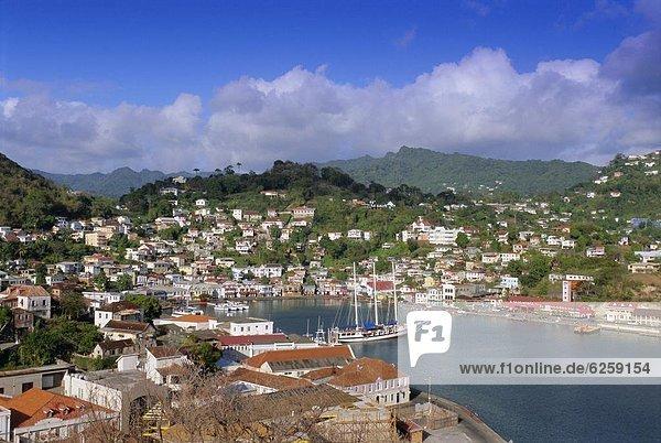 Carenage harbour  St. George's  Grenada  Windward Islands  West Indies  Caribbean  Central America