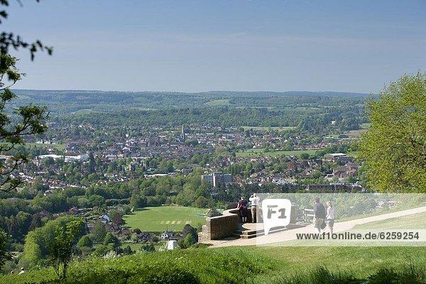 Europa  Großbritannien  Hügel  Ansicht  zeigen  Dorking  England  Surrey  surrey hills