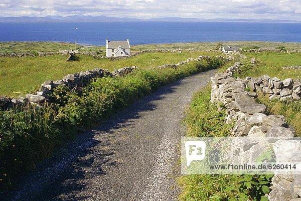 Landstraße Europa Connacht County Galway