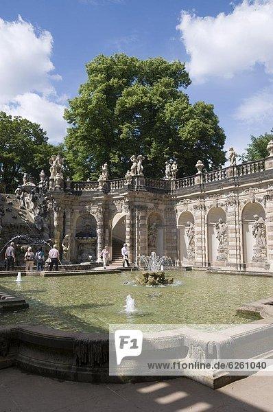 Zwinger  Dresden  Sachsen  Deutschland  Europa