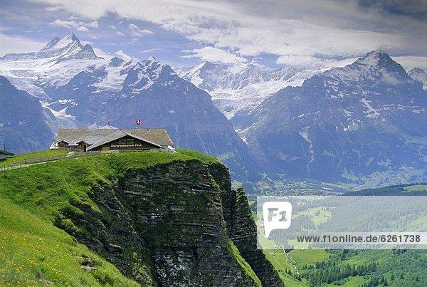 Europa Berg Eiger Norden Westalpen Berner Oberland Grindelwald Schweiz Schweizer Alpen