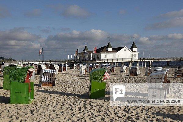 Baltic Sea spa of Ahlbeck  Usedom  Mecklenburg-Western Pomerania  Germany  Europe
