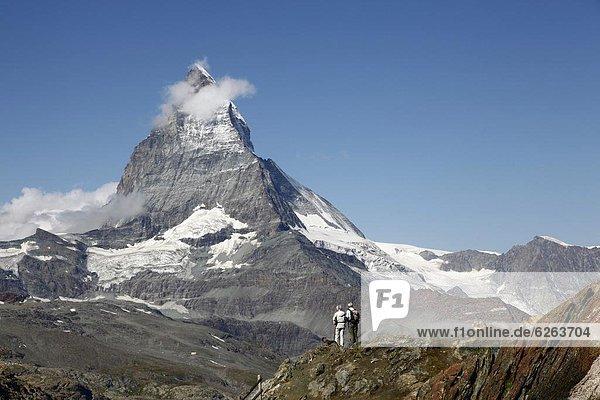 Europa  frontal  wandern  Matterhorn  2  Westalpen  Schweiz  Zermatt