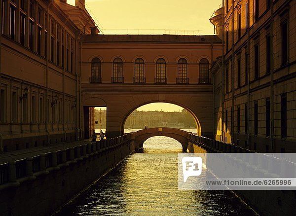 The Winter Canal  St. Petersburg  Russia