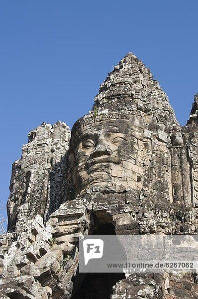 Eingang  Südostasien  UNESCO-Welterbe  Angkor  Asien  Kambodscha  Siem Reap  Südtor
