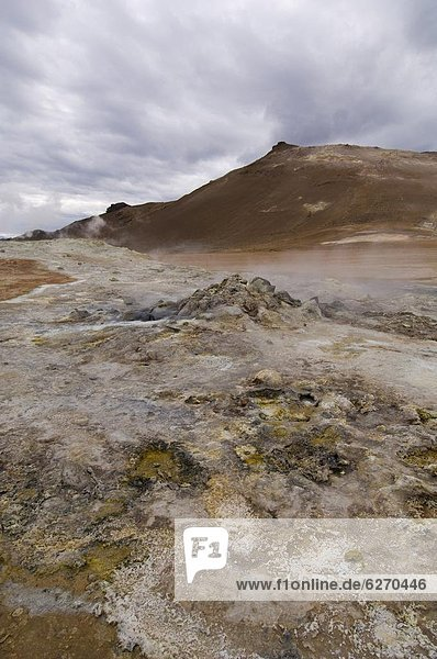 Berg  Feld  Heiße Quelle  Island