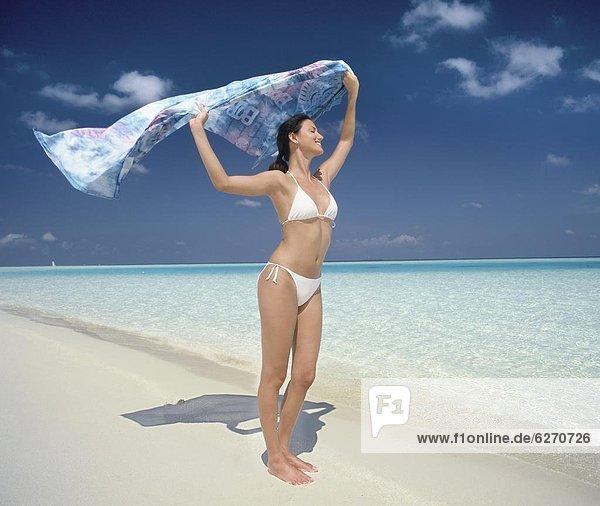 Malediven  Strand  Asien  Indischer Ozean  Indik