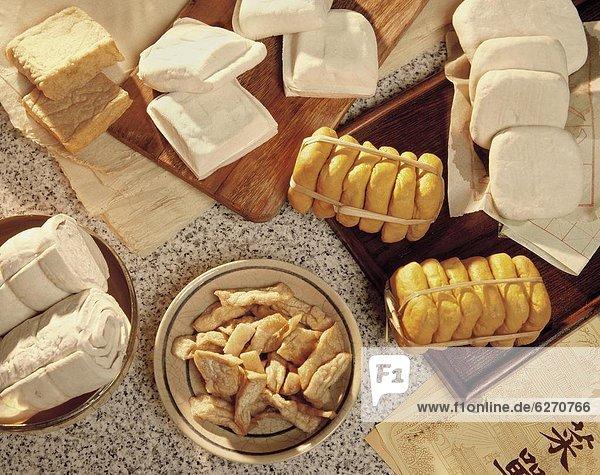 Tofu  Sojasoße  Vielfalt  Kuchen  Bohne  China  Asien  Soya