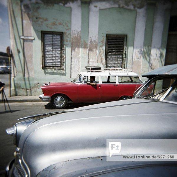 Havanna Hauptstadt Auto Verletzung der Privatsphäre amerikanisch Taxi Westindische Inseln Mittelamerika Kuba alt handhaben