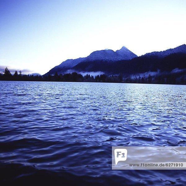 Vereinigte Staaten von Amerika  USA  Wasser  Berg  sehen  Baum  See  Nordamerika  UNESCO-Welterbe  Olympic Nationalpark  Washington State