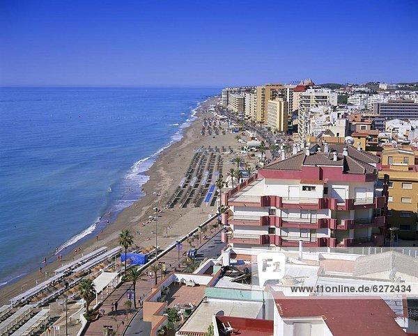 Europa Strand über Ansicht Ufer Spanien