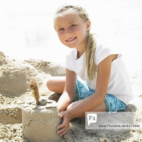 Strand  Produktion  Mädchen  Sandburg