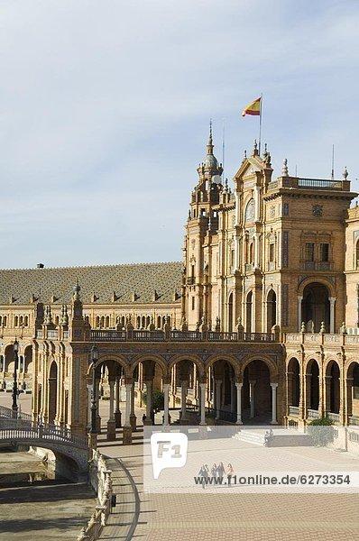 Europa  Stadtplatz  bauen  Messe  Messen  Sevilla  Spanien