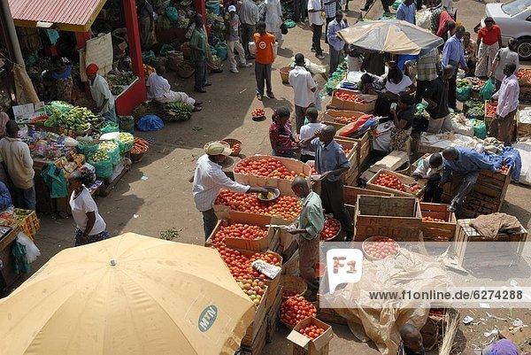 Nakasero Markt  Kampala  Uganda  Ostafrika  Afrika