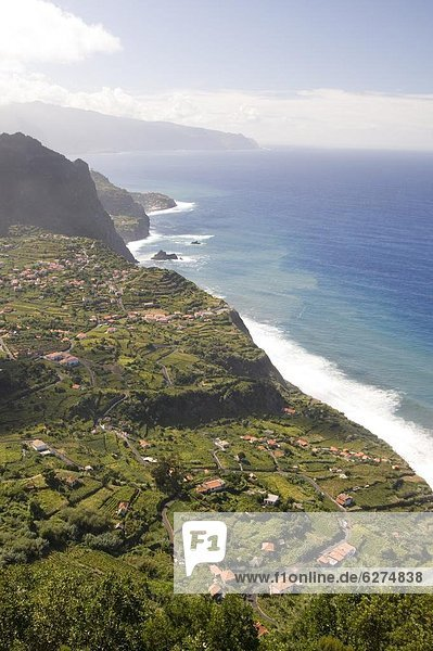 A view of the coast at Sao Jorge on the north coast of the island of Madeira  Portugal  Atlantic  Europe