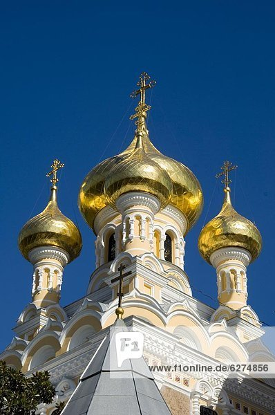 Die Alexander-Newski-Kathedrale  Jalta  Krim  Ukraine  Europa