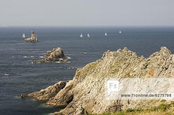 Frankreich  Leuchtturm  Bretagne