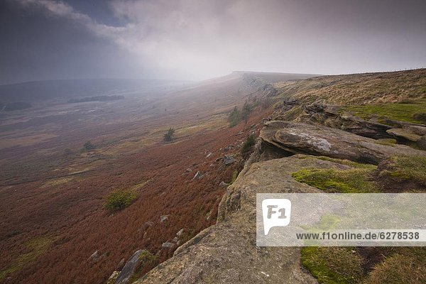 Stanage Edge  Peak District National Park  Derbyshire  England  Vereinigtes Königreich  Europa