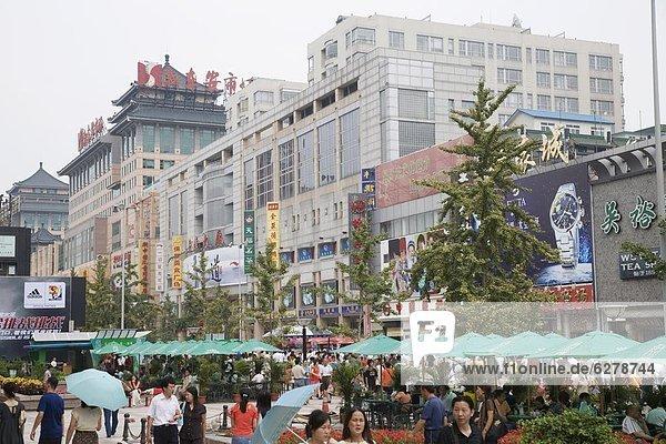 Wangfungjing Road  Peking  China  Asien