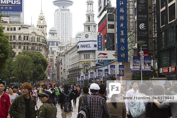 Fußgänger  China  Asien  Shanghai
