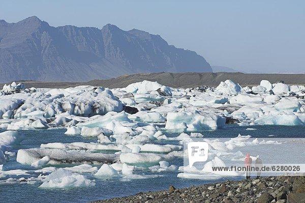 Wasser  schmelzen  Eisberg  Eis  Jökulsárlón  Island  Lagune