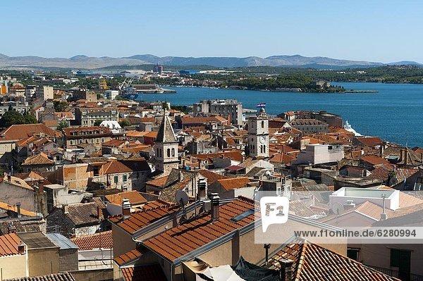 Town of Sibenik  Dalmatia region  Croatia  Europe
