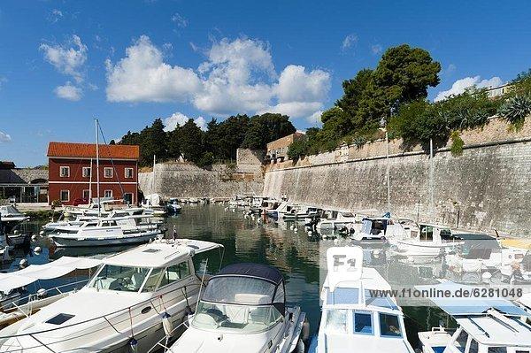 The Fosa  one of the small ports of Zadar  Zadar county  Dalmatia region  Croatia  Europe