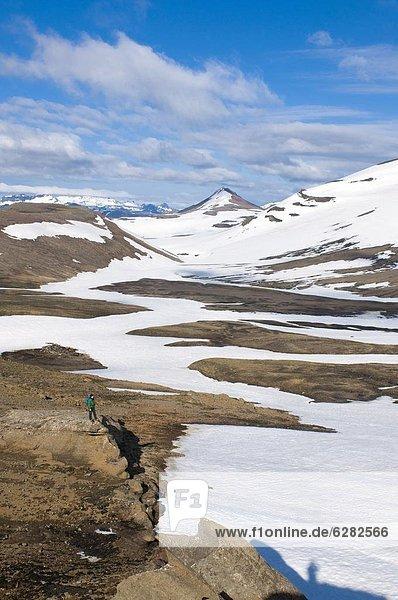 Gehhilfe  Berg  bedecken  Landschaft  Eis  Island