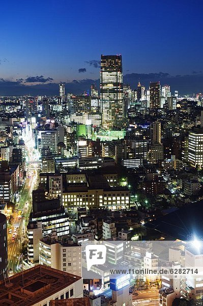 Skyline  Skylines  sehen  Großstadt  Tokyo  Hauptstadt  Turm  Ansicht  Roppongi  Asien  Japan