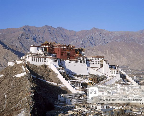 Gebäude  Nostalgie  Lama  Lama buanicoe glama  Asien  Lhasa  Residenz  Tibet